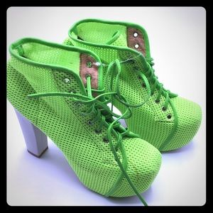 NWT Jeffrey Campbell lime green Litas
